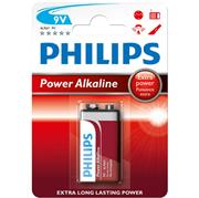 Baterie Philips Power Alkaline 9V alkalická